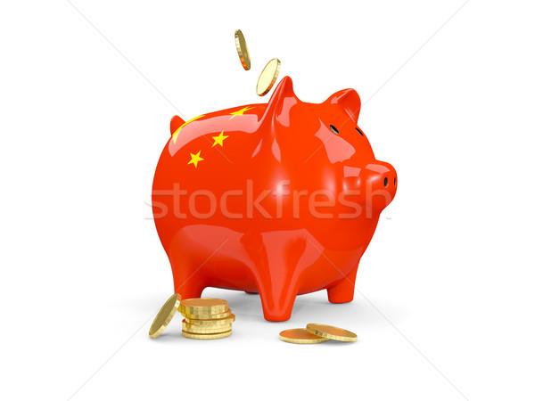 Grasso salvadanaio Cina soldi isolato bianco Foto d'archivio © MikhailMishchenko