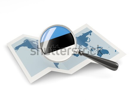 Two chat icons with flag of estonia Stock photo © MikhailMishchenko