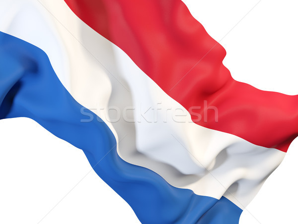 Vlag Nederland 3d illustration weefsel Stockfoto © MikhailMishchenko