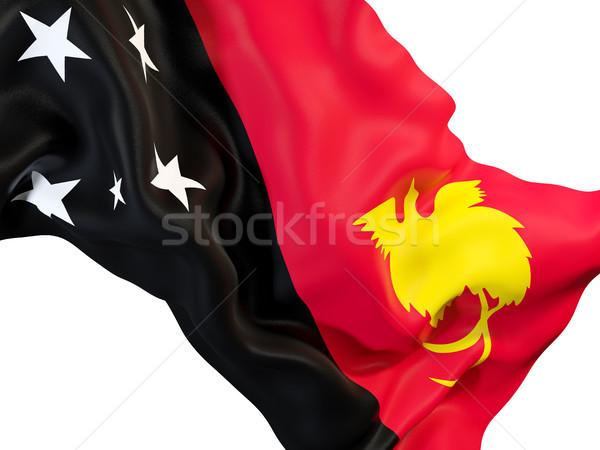 Bandeira Papua Nova Guiné ilustração 3d viajar Foto stock © MikhailMishchenko