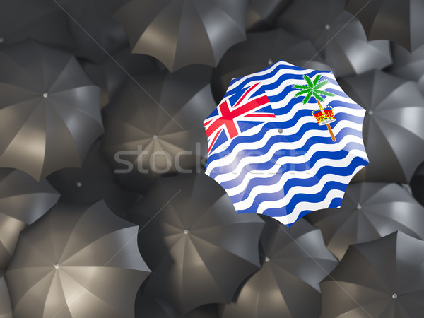 Umbrella with flag of british indian ocean territory Stock photo © MikhailMishchenko
