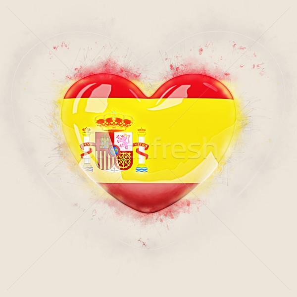 中心 フラグ スペイン グランジ 3次元の図 愛 ストックフォト © MikhailMishchenko