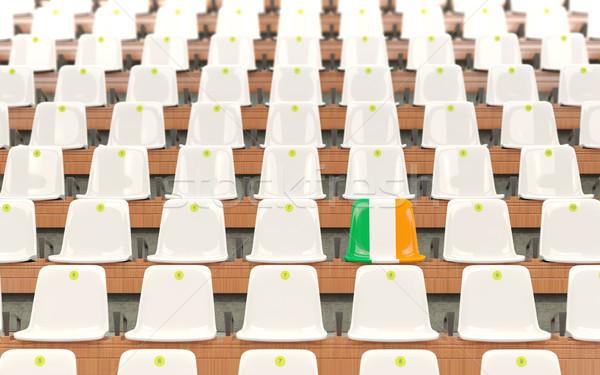 Stadion ülés zászló Írország csetepaté fehér Stock fotó © MikhailMishchenko