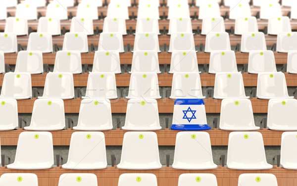 Estádio assento bandeira Israel branco Foto stock © MikhailMishchenko
