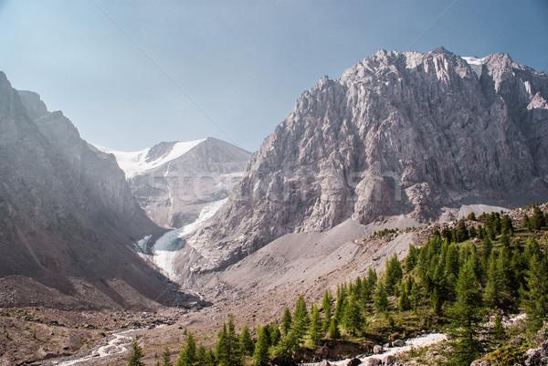 氷河 高山 風景 山 セントラル アジア ストックフォト © MikhailMishchenko