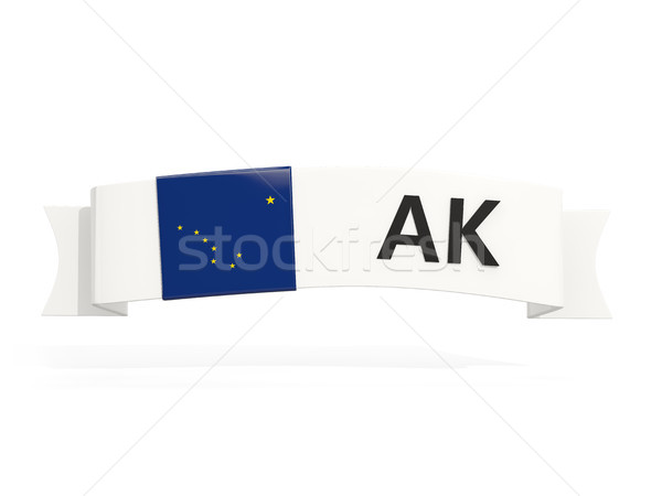 alaska state flag on banner with postal abbreviation isolated on Stock photo © MikhailMishchenko