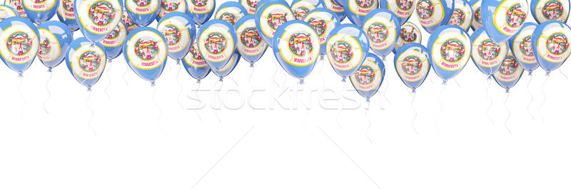 Balloons frame with flag of minnesota. United states local flags Stock photo © MikhailMishchenko