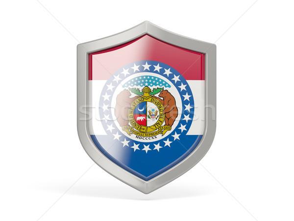 Shield icon with flag of missouri. United states local flags Stock photo © MikhailMishchenko