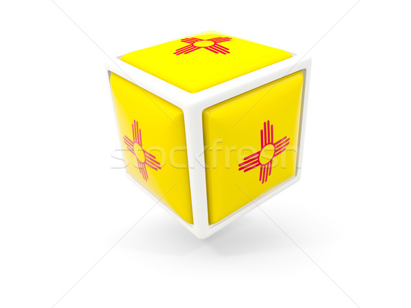 new mexico state flag in cube icon. United states local flags Stock photo © MikhailMishchenko