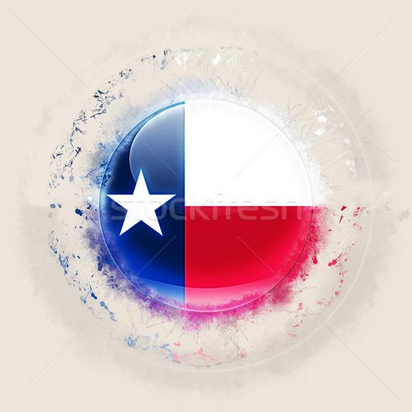Texas vlag grunge icon Verenigde Staten lokaal Stockfoto © MikhailMishchenko