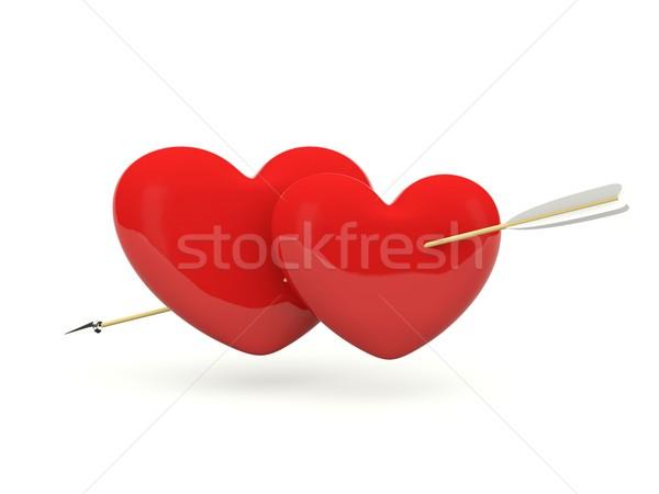 Hearts with arrow Stock photo © MikhailMishchenko