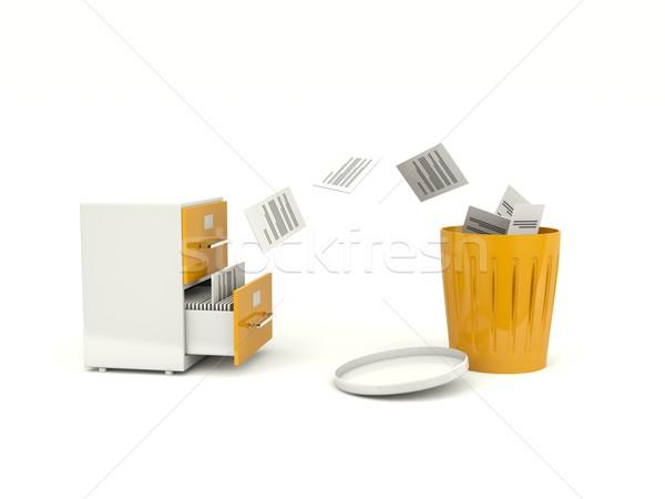 Zdjęcia stock: Plików · archiwum · szafka · Internetu · stali · biały