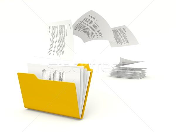 Zdjęcia stock: Plików · folderze · papieru · Internetu · danych · wyszukiwania