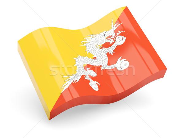 3D vlag Bhutan geïsoleerd witte reizen Stockfoto © MikhailMishchenko