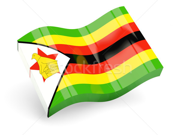 3d flag of zimbabwe Stock photo © MikhailMishchenko