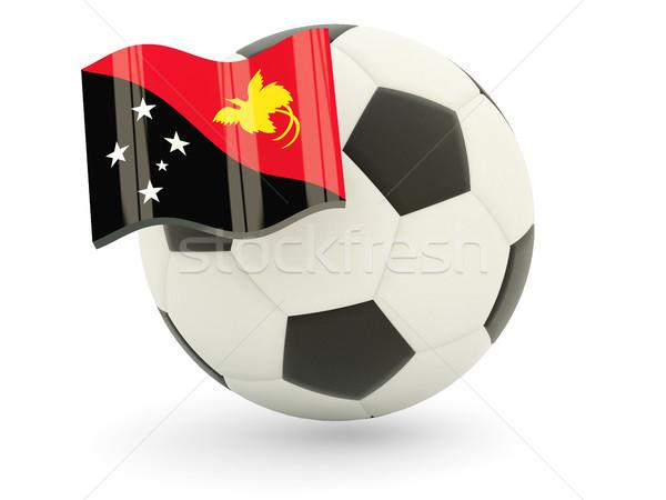 футбола флаг Папуа-Новая Гвинея изолированный белый спорт Сток-фото © MikhailMishchenko