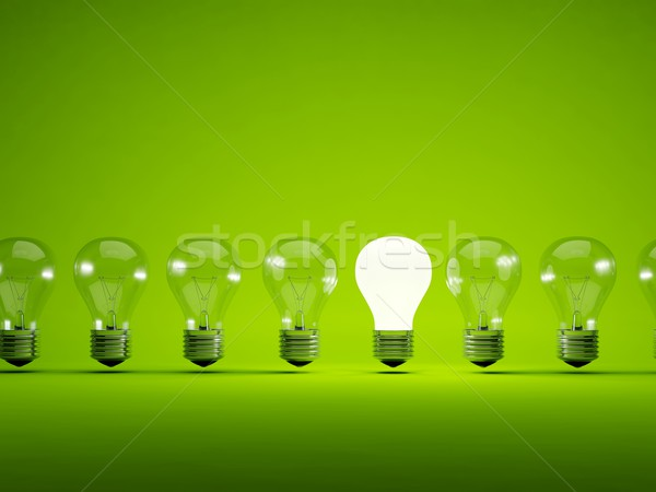 Turn on light bulb Stock photo © MikhailMishchenko
