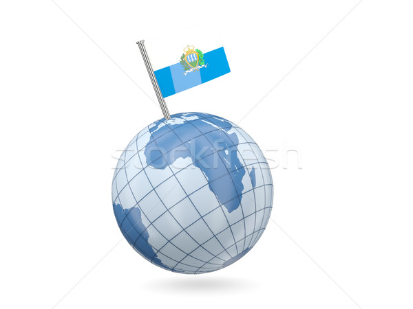 мира флаг Сан-Марино синий изолированный белый Сток-фото © MikhailMishchenko