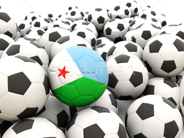 футбола флаг Джибути регулярный лет Сток-фото © MikhailMishchenko