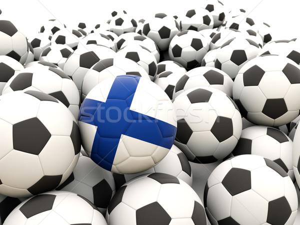 Futebol bandeira Finlândia regular verão Foto stock © MikhailMishchenko