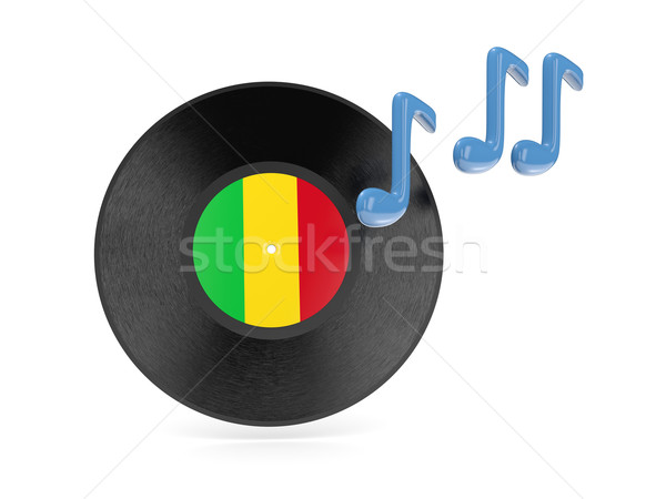 Vinyl disk with flag of mali Stock photo © MikhailMishchenko