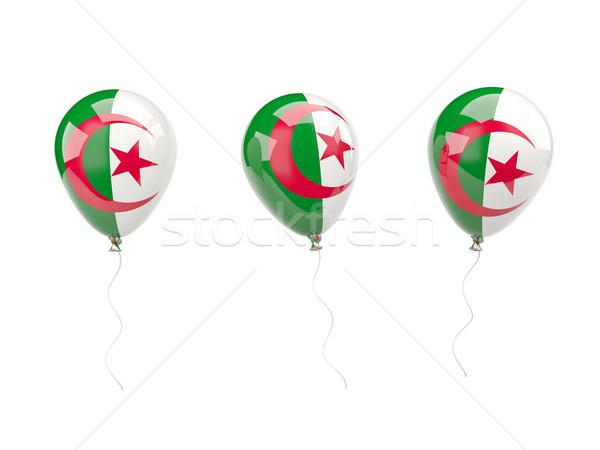 Air ballons pavillon Algérie isolé blanche Photo stock © MikhailMishchenko
