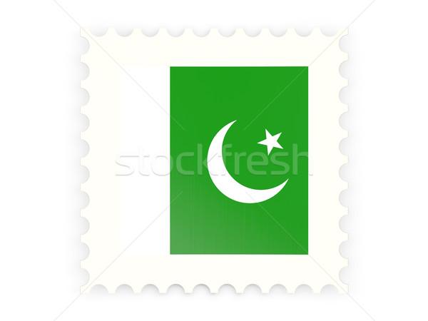 Icon Pakistan geïsoleerd witte teken Stockfoto © MikhailMishchenko