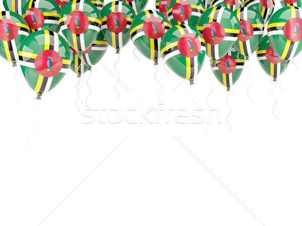 Ballon frame vlag Dominica geïsoleerd witte Stockfoto © MikhailMishchenko