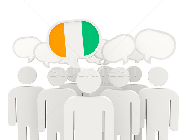 People with flag of cote d'Ivoire Stock photo © MikhailMishchenko