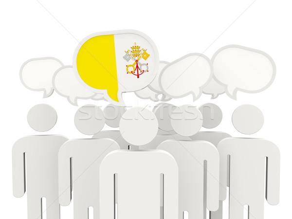 люди флаг Ватикан изолированный белый заседание Сток-фото © MikhailMishchenko