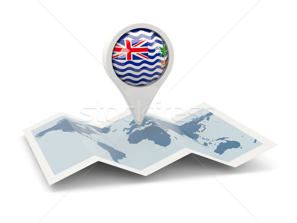 Round pin with flag of british indian ocean territory Stock photo © MikhailMishchenko
