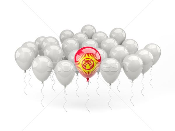 Hava balonlar bayrak Kırgızistan yalıtılmış beyaz Stok fotoğraf © MikhailMishchenko