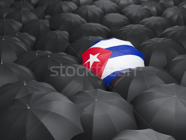şemsiye bayrak Küba siyah seyahat Stok fotoğraf © MikhailMishchenko