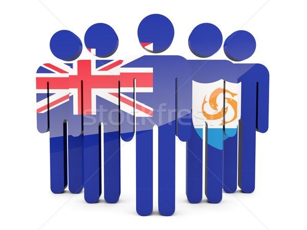 People with flag of anguilla Stock photo © MikhailMishchenko