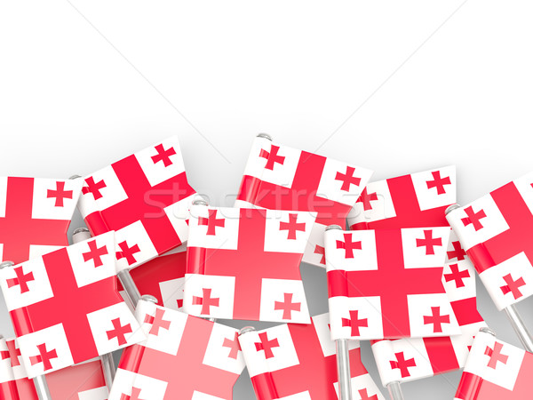 флаг Pin Грузия изолированный белый фон Сток-фото © MikhailMishchenko