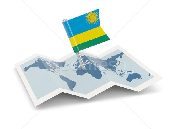 Map with flag of rwanda Stock photo © MikhailMishchenko