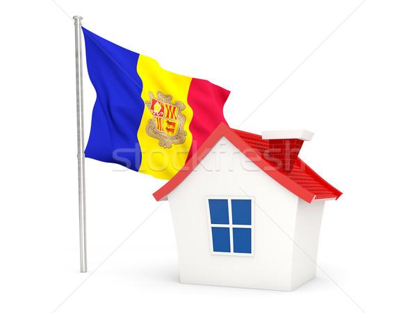 House with flag of andorra Stock photo © MikhailMishchenko