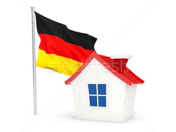 дома флаг Германия изолированный белый домой Сток-фото © MikhailMishchenko