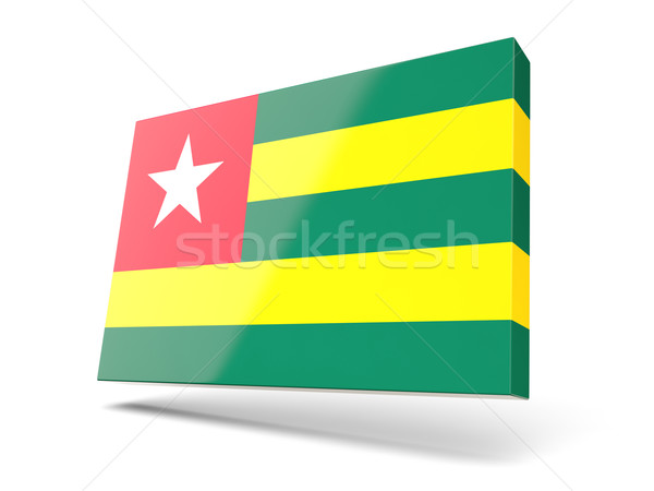 Placu ikona banderą Togo odizolowany biały Zdjęcia stock © MikhailMishchenko