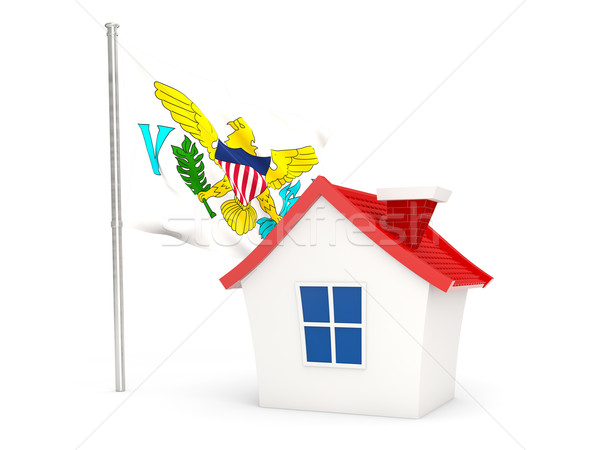 House with flag of virgin islands us Stock photo © MikhailMishchenko