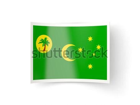 Stock fotó: Tér · fém · gomb · zászló · Zambia · izolált