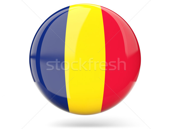 Round icon with flag of chad Stock photo © MikhailMishchenko