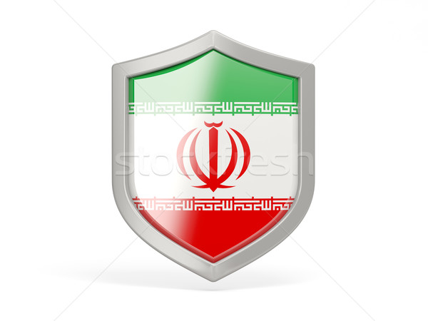 Shield icon with flag of iran Stock photo © MikhailMishchenko