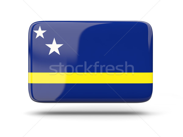 Square icon with flag of curacao Stock photo © MikhailMishchenko