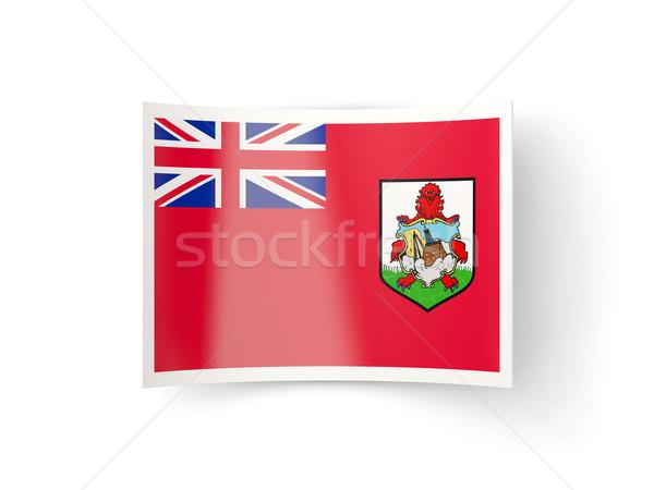 Bent icon with flag of bermuda Stock photo © MikhailMishchenko