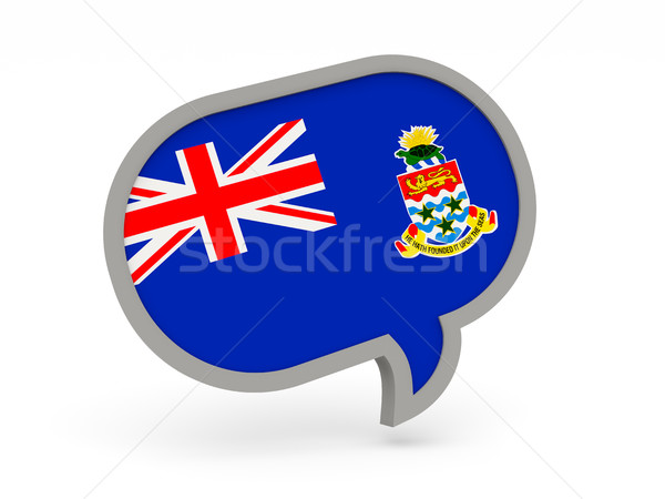 Chat icon with flag of cayman islands Stock photo © MikhailMishchenko