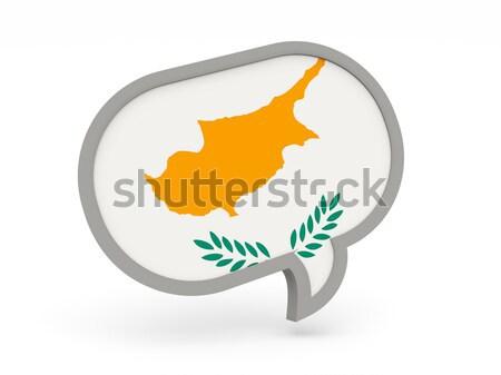 Chat icon vlag Cyprus geïsoleerd witte Stockfoto © MikhailMishchenko