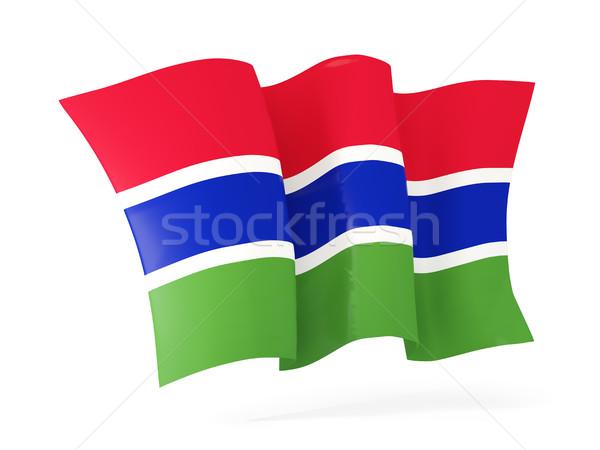 Waving flag of gambia. 3D illustration Stock photo © MikhailMishchenko