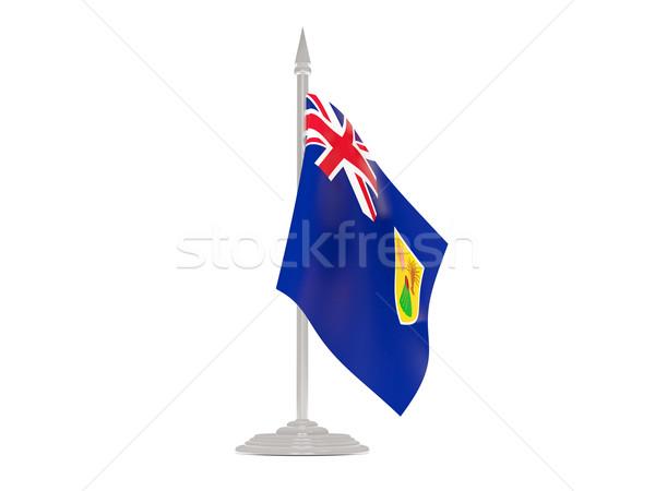 Vlag eilanden vlaggestok 3d render geïsoleerd witte Stockfoto © MikhailMishchenko