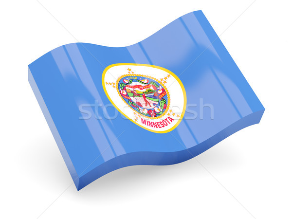Flag of minnesota, US state wave icon Stock photo © MikhailMishchenko